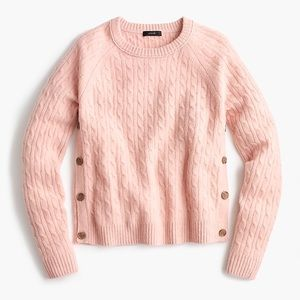 NWOT J. Crew Pink Button Sweater